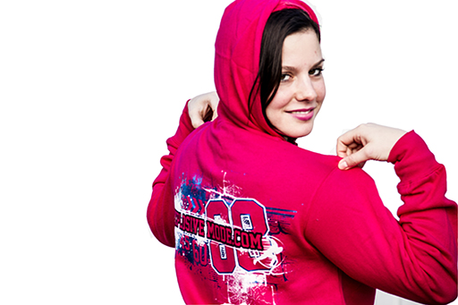Fastlane Strength Ambigram Hoodie with Glitter Foil